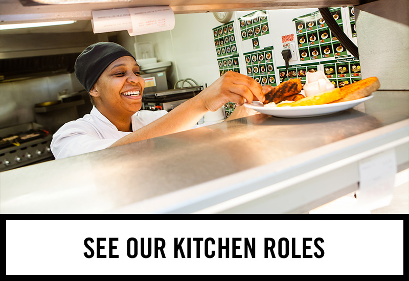 Kitchen roles at The Trocadero